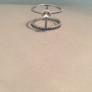 Henri Bendel Silver Ring